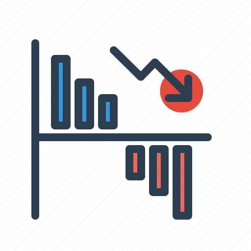 analytics, chart, diagram, loss, sales report, statistics, stats icon