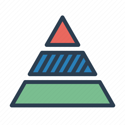 analytics, chart, pyramid, report, statistics, stats, triangle icon
