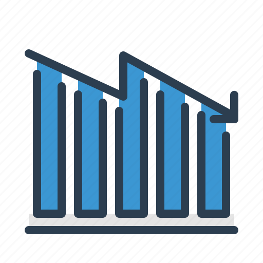 analytics, chart, decreasing, diagram, loss, statistics, stats icon