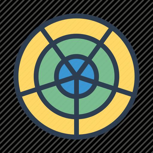 chart, circular system, diagram, statistics icon