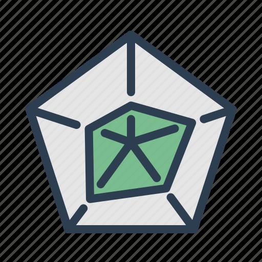 analytics, chart, diagram, pentagon, report, statistics, stats icon
