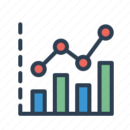 analytics, chart, earnings, sales report, statistics, stats, stock market icon