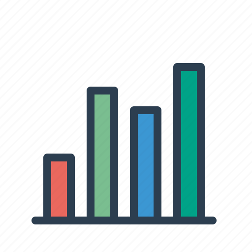 analytics, bar chart, earnings, sales business report, statistics, stats, stock market icon