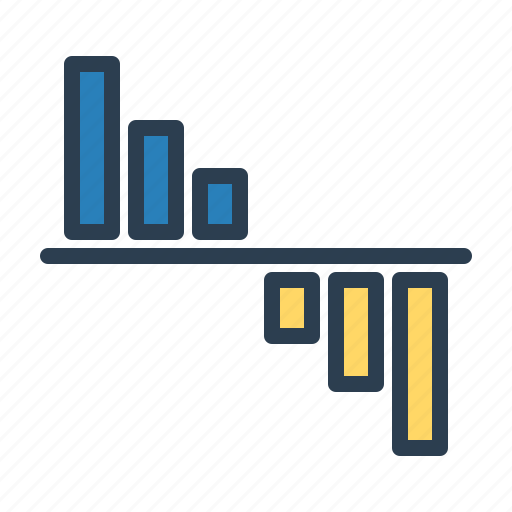 analytics, chart, decrease, loss, sales report, statistics, stats icon