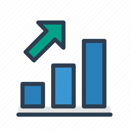 analytics, arrow up, chart, growth, sales report, statistics, stats icon