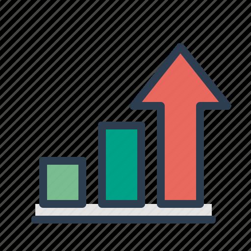 analytics, arrow up, chart, growth, sales report, statistics, stats icon