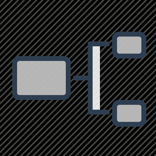 chart, diagram, hierarchy, plan, scheme, structure, workflow icon