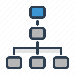 chart, diagram, hierarchy, plan, scheme, structure, workflow icon