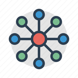 connection, diagram, hierarchy, report, scheme, structure, teamwork icon