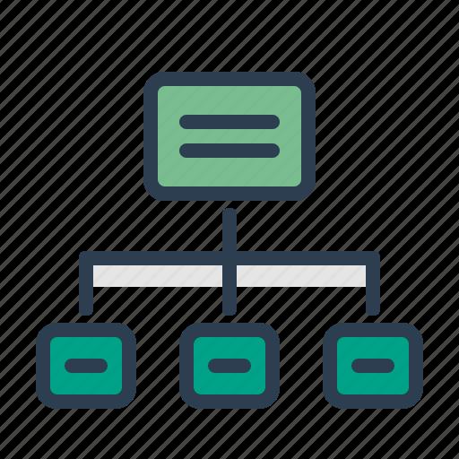 Flowchart, hierarchy, scheme, sitemap icon - Download on Iconfinder