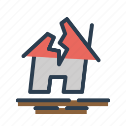 disaster, earthquake, gap, house, quake, shakes, temblor icon