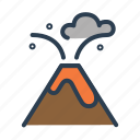 danger, eruption, lava, volcano, outburst