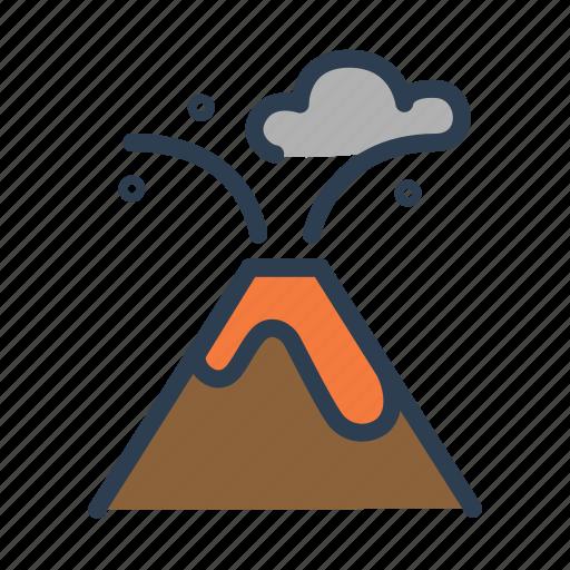 danger, eruption, lava, outburst, volcano icon
