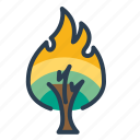 danger, fire, flame, forest, burning tree