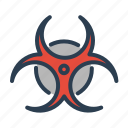 biohazard, biological, danger, disaster, pollution, toxic, warning icon