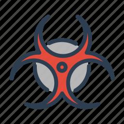 biohazard, biological, danger, disaster, pollution, toxic, warning icon