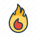 burn, burning, danger, fire, flame icon