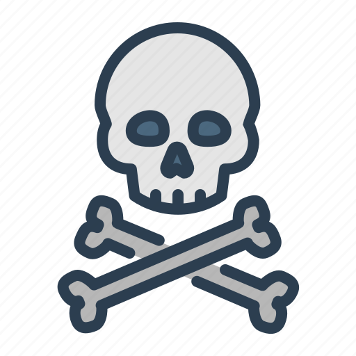 crossbone, danger, death, disaster, hazard, skeleton, skull icon