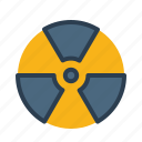 biohazard, nuclear, radiation, radioactive, reontgen icon