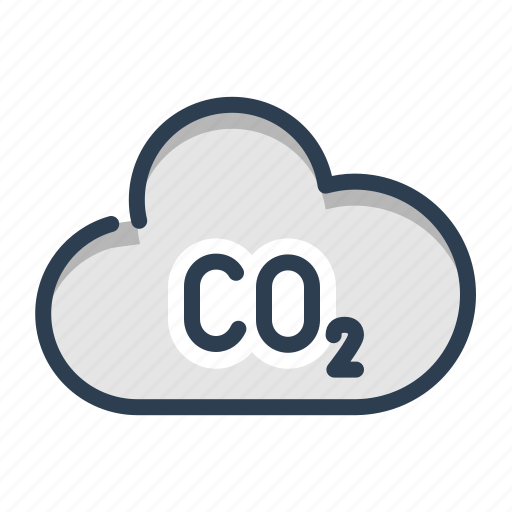 air, carbone dioxide, co2, pollution icon