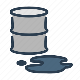 barrel, catastrophe, disaster, ecology, oil spill, pollution, tank icon