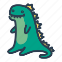 creature, disaster, godzilla, monster icon