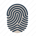 biometric, fingerprint, identification, touch id icon
