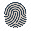 fingerprint, identification, security, touch id icon