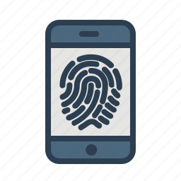 biometric, fingerprint, identification, mobile, scan, security, touch id icon