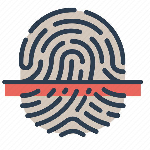 biometric, fingerprint, scan, scanner, touch id icon