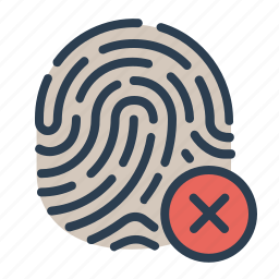 biometric, close, fingerprint, identification, scan, security, touch id icon