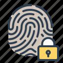 biometric, fingerprint, lock, touch id
