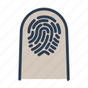 biometric, finger, fingerprint, identification, scan, security, touch id icon