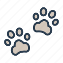 animal, cat, dog, fingerprint, foot, paw, trace icon