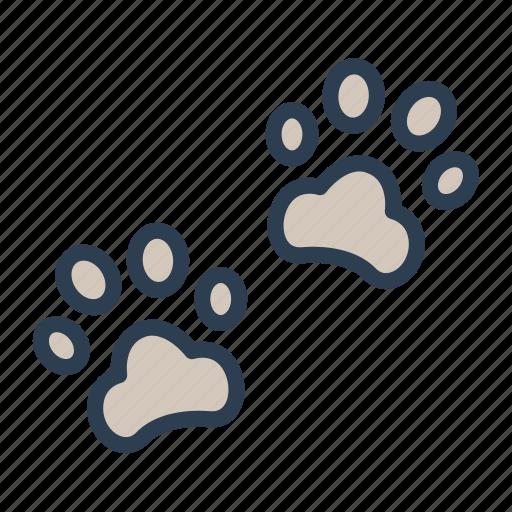 animal, cat, dog, fingerprint, foot, paw, trace icon