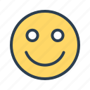 emoji, face, happy, positive, smiley icon