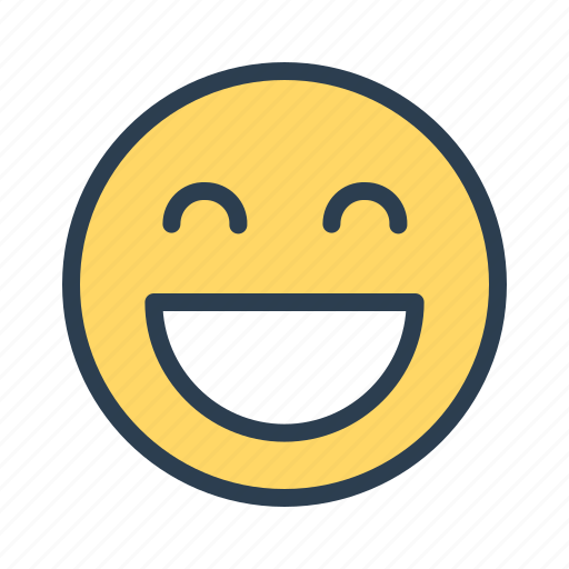 avatar, emoticon, emotion, face, happiness, laugh, smiley icon
