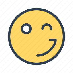 avatar, blink, emoticon, emotion, face, smiley, wink icon