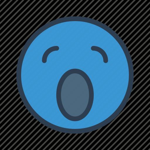 avatar, emoticon, emotion, face, sleepy, smiley, yawn icon