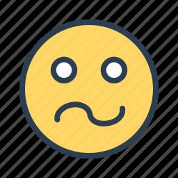 avatar, confused, emoticon, emotion, face, sick, smiley icon