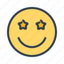 avatar, emoticon, emotion, face, happy, smiley, star icon