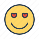 avatar, emoticon, emotion, face, heart, in love, smiley icon