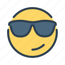 boss, cool, emoji, sunglasses icon