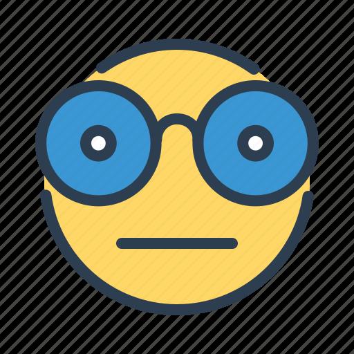 avatar, emoticon, emotion, geek, nerd, nerdy face, smiley icon