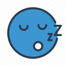 avatar, emoticon, emotion, face, sleep, smiley, zzz icon