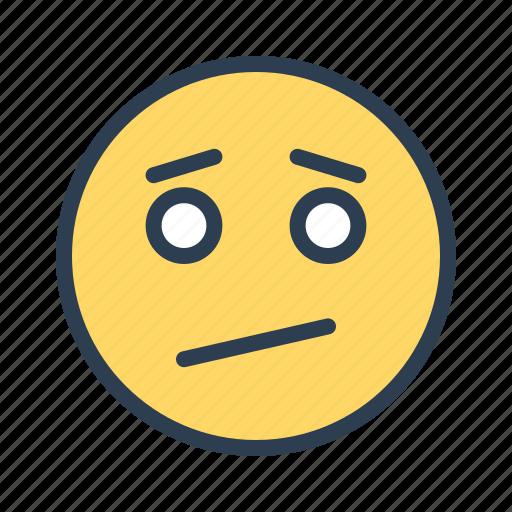 dull, emoji, face, upset icon