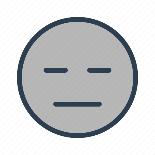 emoticon, emotion, indifferent, upset icon