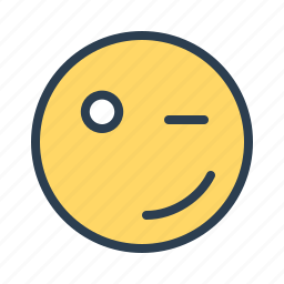avatar, blink, emoticon, emotion, face, smiley, winking icon