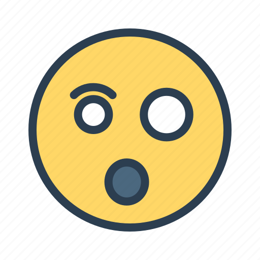 avatar, emoticon, emotion, face, shocked, smiley, surprised icon