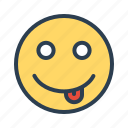 smiley, teasing, tongue, emoji icon